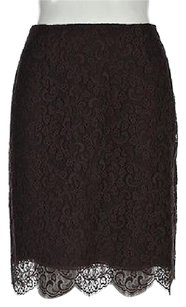 Valentino Womens Pencil Skirt Brown