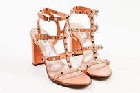 Valentino Leather Orange Sandals