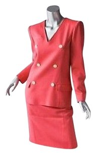 Valentino Valentino Boutique Vintage Coral Skirt Suit Blouse Jacket Suit Outfit Xss