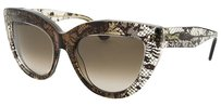 Valentino Valentino Women's Cat Eye Translucent Brown Gradient Sunglasses