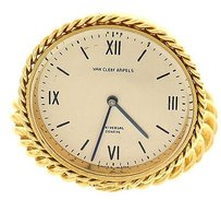 Van Cleef & Arpels Van Cleef Arpels 18k Yellow Gold Travel Clock
