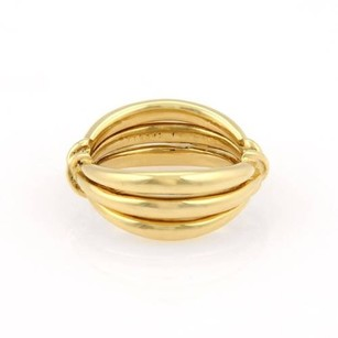 Van Cleef & Arpels Vca Van Cleef Arpels 18k Yellow Gold Triple Row X Band