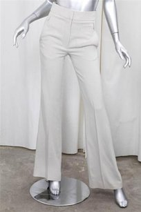 Vanessa Bruno Light Tan Silky Pocket Detail Slacks Trousers Pants