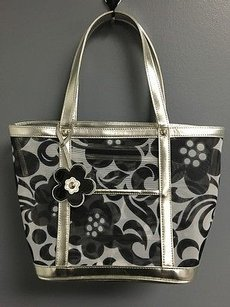Vera Bradley Floral Sheer Spacious Open Top Beach B3340 Tote in Multi-Color