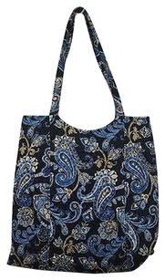 Vera Bradley Womens Paisley Handbag Satchel in Blue