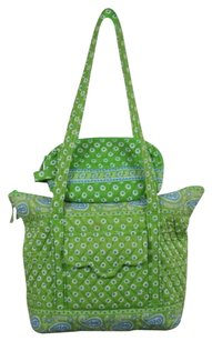 Vera Bradley Womens Printed Casual Handbag Satchel in Green