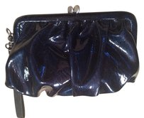 Vera Wang Coin Purse Wallet Snap Blue Metallic Shiny Clutch