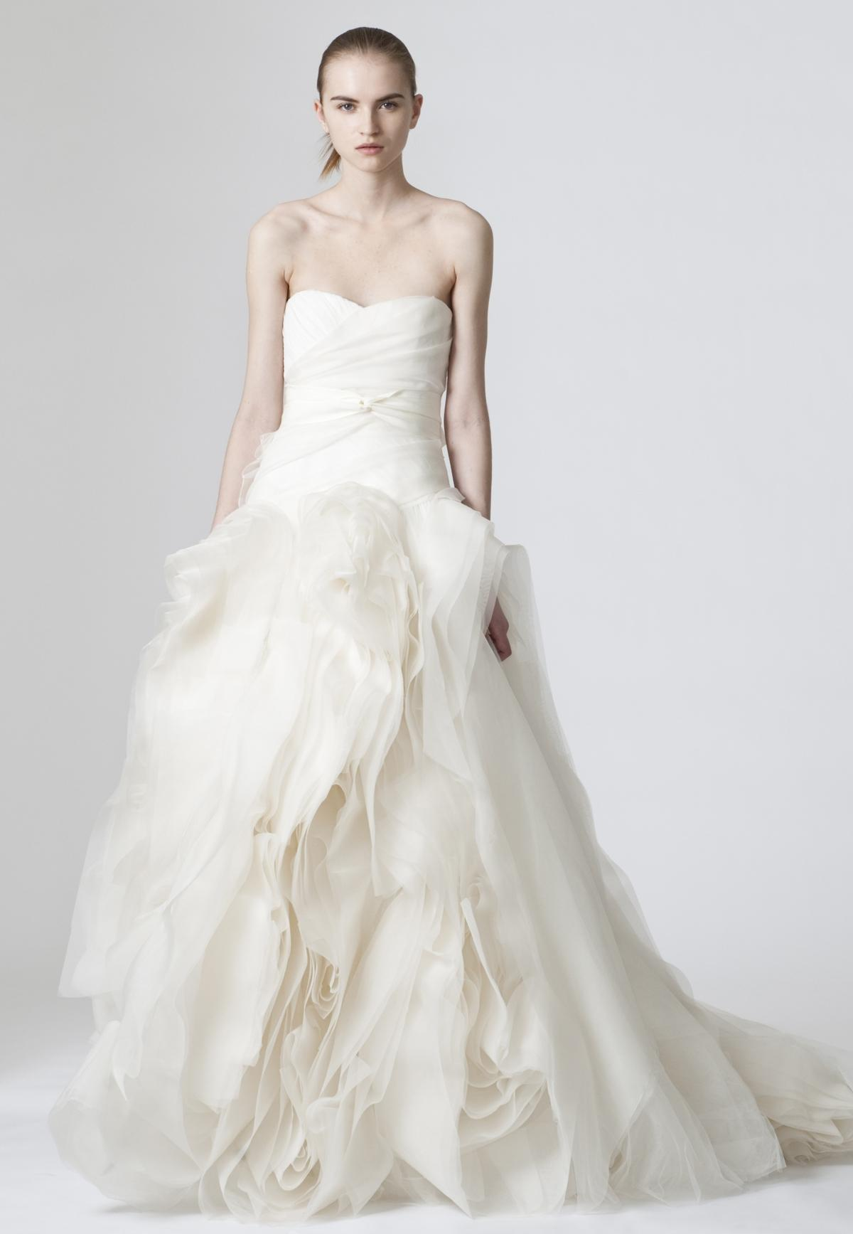 Vera Wang Diana Tulle Wedding Dress Size 0 (XS) ...