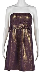 Vera Wang Womens Purple Dress