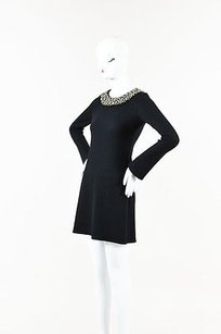 Vera Wang short dress Black Wool on Tradesy