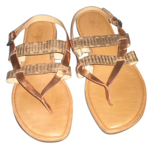 Vera Wang Tan/Bronze/Gold Thong Leather Sandals Size B) US 10 Regular (M, B) Size f9a1f7