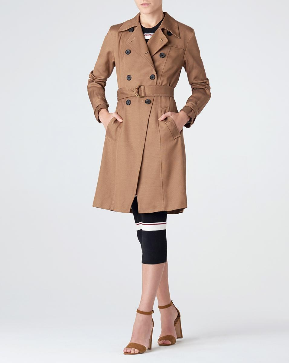 Veronica Beard Tan Beige Hutton Trench Coat Spring Jacket ...