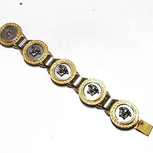 Versace Authentic Versace Vintage Medusa Head Medallion Link Bracelet