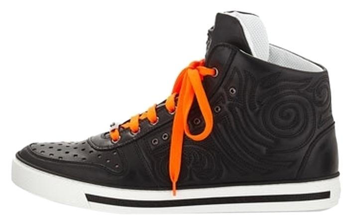 Versace - embossed leather high top sneaker