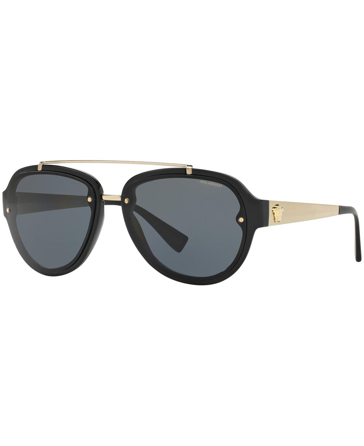 c467da435c4 Versace black gold aviator polarized ve sunglasses jpg 245x300 Versace  aviator sunglasses