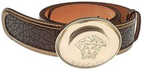 Versace Brand New Authentic Cacao Versace Logo on Buckle Belt 35