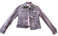 Versace Distressed pink Leather Jacket
