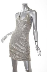 Versace short dress Silver Womens Sequin on Tradesy