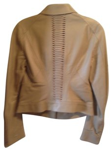 Versace Tan Leather Jacket