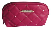 Versace Versace XL Size Cosmetic Bag w/ Golden Studs Red NWT