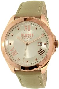 Versace Versus by Versace Women's Elmont SBE030015 Beige Leather Quartz Watch