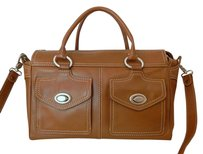 Via Spiga Leather Top Tote in Brown