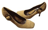 Via Spiga Beige Suede Tan Brown Pumps