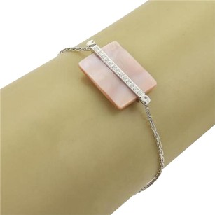 Victoria Casal Victoria Casal Diamonds Pink Mother Of Pearl 18k White Gold Bracelet