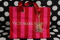 Victoria's Secret Smallcanvas Keychain Charms Signature Tote in Red