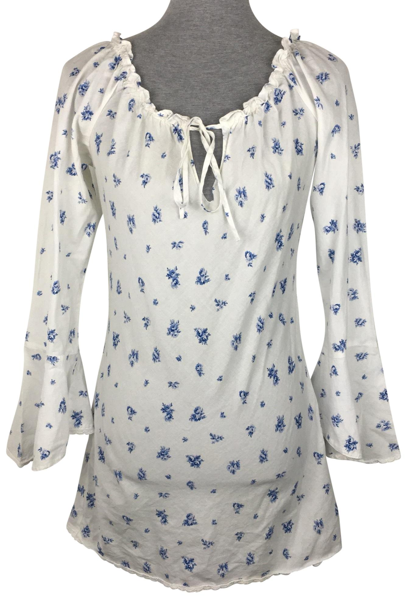 Blue Victoria S Secret Blouses Up To 70 Off A Tradesy