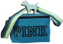 Victoria's Secret Cooler Lunch Tote Insulated Pink Teal and Lime Travel Bag