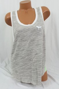 Victoria's Secret Victorias Pink Lmuscle T Shirt Gray