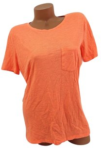 Victoria's Secret Pink Pocket Solid Bright T Shirt Orange