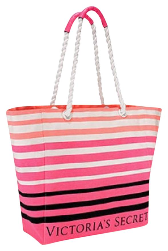 Victoria's Secret Striped Pink Beach Bag on Sale, 53% Off | Beach ...