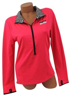 Victoria's Secret Lultimate Pulloversolid Hot Pinkblack Trim Sweatshirt