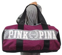 Victoria's Secret Victorias Pinkduffle Purple Travel Bag