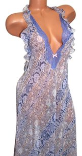Victoria's Secret Very Sexy Long Gown Slip Dress Babydoll Teddy High-Low Small S