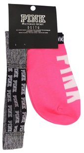 Victoria's Secret Victorias Secret Pink1pr No-show Socks Headband One Size Gray Pink