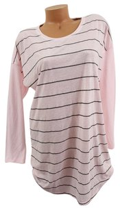 Victoria's Secret Victorias Secret Mangel Sleep Teelong-sleeve Pink Glitter Stripes