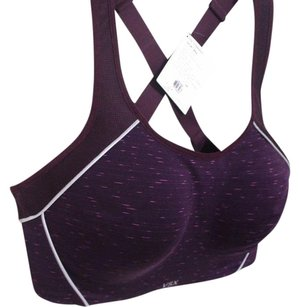 Victoria's Secret VSX THE STANDOUT SPORT BRA GYM PADDED BRA SZ 36D DARK PLUM NWT
