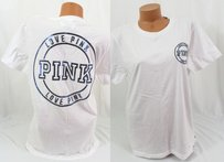 Victoria's Secret Victorias Pink Scampus T Shirt White