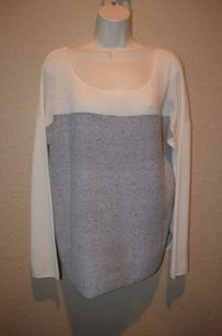 Vince Off White Blue Cashmere Sweater