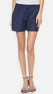Vince Nwd Dark Cotton Shorts Blue