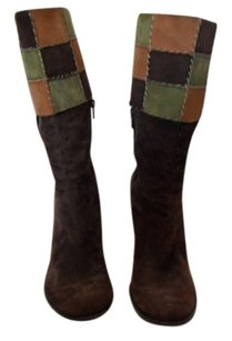 Vince Camuto Brown/Patchwork Boots