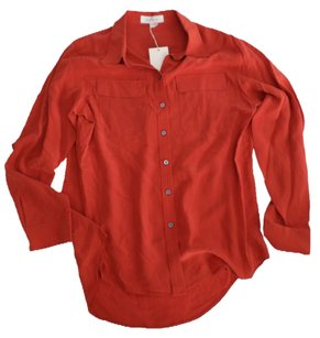 Vince Camuto Button Down Shirt Nectarine