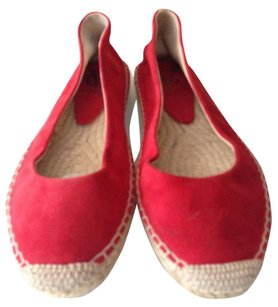 Vince Camuto Kid Suede Espadrille Red Flats