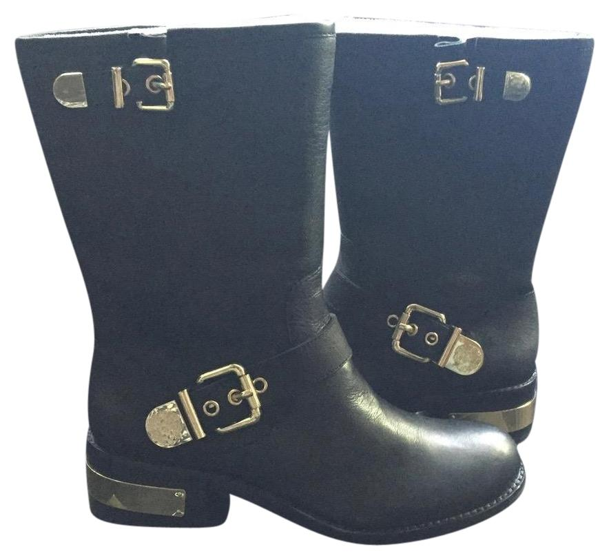 vince camuto black winchell moto boots booties size us