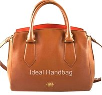 Vince Camuto Leather Lenix Satchel in Brown