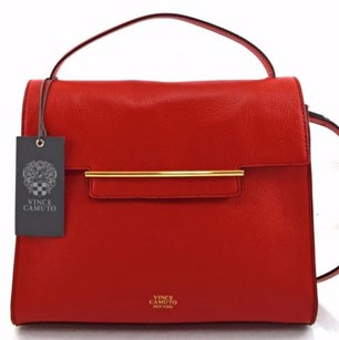 Vince Camuto Leather Aster Satchel in Red