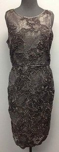 Vince Camuto Polyester Crochet Floral Lined Zip Sm1117 Dress
